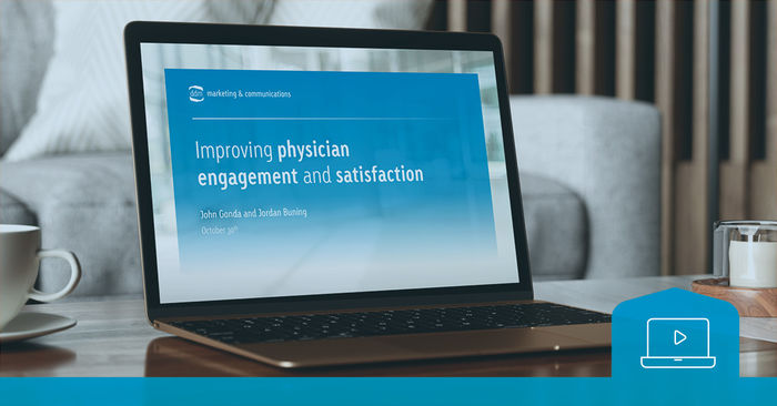 webinar replay -physician engagement and satisfaction -cover