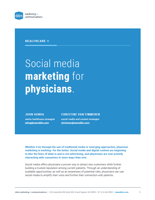 physicians and social media white paper image
