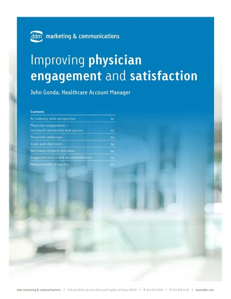 Increasing Physician Engagement & Satisfaction -whitepaper