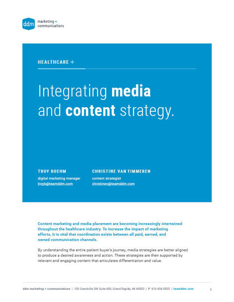 Document cover - Integrating Media and Content Strategy